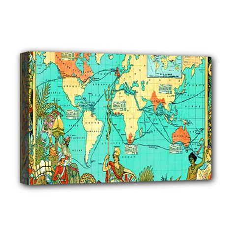 Vintage Map 1 Deluxe Canvas 18  X 12
