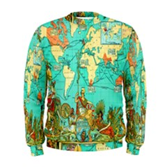 Vintage Map 1 Men s Sweatshirt