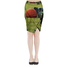 Pumpkins 10 Midi Wrap Pencil Skirt