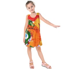In Mediterrainean Kids  Sleeveless Dress
