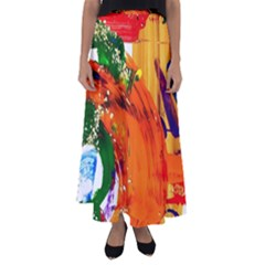 In Mediterrainean Flared Maxi Skirt