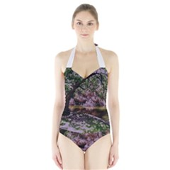 Old Tree 6 Halter Swimsuit