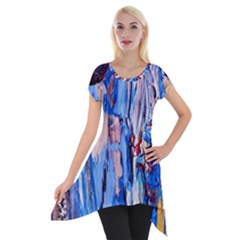 Point Of View 3/1 Short Sleeve Side Drop Tunic
