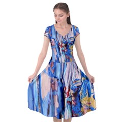 Point Of View 3/1 Cap Sleeve Wrap Front Dress
