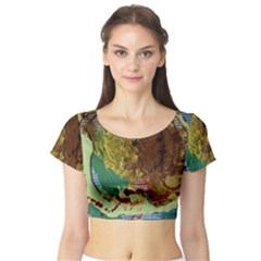 Doves Matchmaking 2 Short Sleeve Crop Top