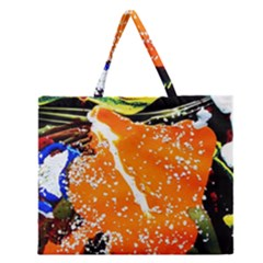 Smashed Butterfly 6 Zipper Large Tote Bag