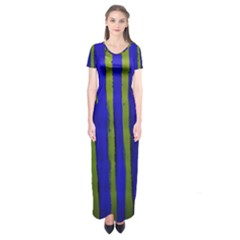 Stripes 4 Short Sleeve Maxi Dress