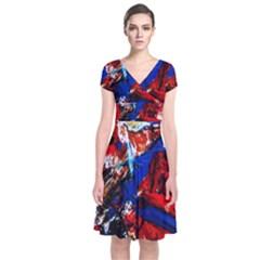 Mixed Feelings 9 Short Sleeve Front Wrap Dress
