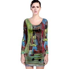 Point Of View 9 Long Sleeve Bodycon Dress