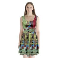 Point Of View 9 Split Back Mini Dress