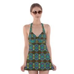 Colorful 29 Halter Dress Swimsuit