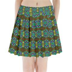 Colorful 29 Pleated Mini Skirt by ArtworkByPatrick
