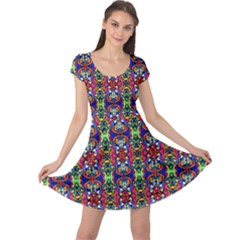Colorful 30 Cap Sleeve Dress