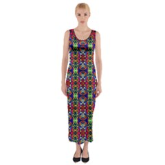 Colorful 30 Fitted Maxi Dress