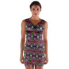 Colorful 30 Wrap Front Bodycon Dress