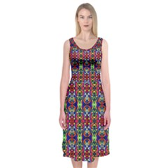 Colorful 30 Midi Sleeveless Dress