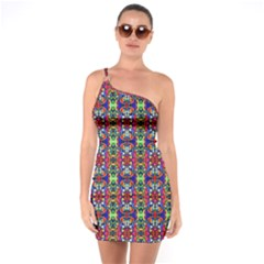Colorful 30 One Soulder Bodycon Dress