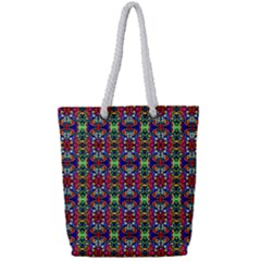 Colorful 30 Full Print Rope Handle Tote (small)