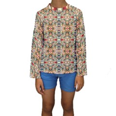 Artwork By Patrick Colorful 31 Kids  Long Sleeve Swimwear