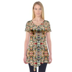 Artwork By Patrick Colorful 31 Short Sleeve Tunic