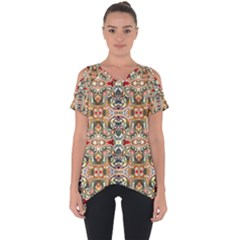 Artwork By Patrick Colorful 31 Cut Out Side Drop Tee