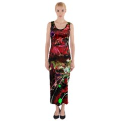 Bloody Coffee 2 Fitted Maxi Dress