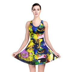 Yellow Roses 2 Reversible Skater Dress