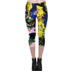 Yellow Roses 2 Capri Leggings
