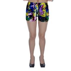 Yellow Roses 2 Skinny Shorts
