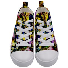 Yellow Roses 2 Kid s Mid Top Canvas Sneakers