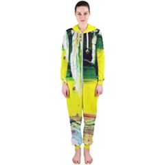 Poppies In An Abandoned Yard 10 Hooded Jumpsuit (ladies)