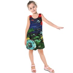Tumble Weed And Blue Rose Kids  Sleeveless Dress