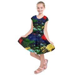 Tumble Weed And Blue Rose Kids  Short Sleeve Dress