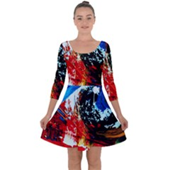 Mixed Feelings 4 Quarter Sleeve Skater Dress