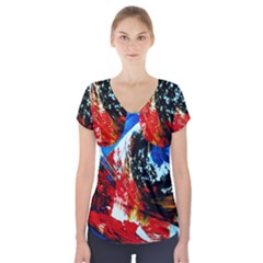 Mixed Feelings 4 Short Sleeve Front Detail Top