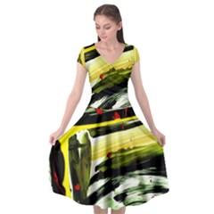 Grave Yard 6 Cap Sleeve Wrap Front Dress