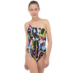 Inposing Butterfly 1 Classic One Shoulder Swimsuit