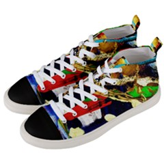 Catalina Island Not So Far 3 Men s Mid Top Canvas Sneakers by bestdesignintheworld