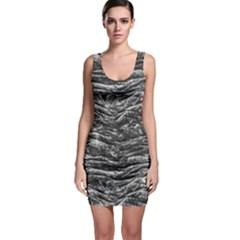 Dark Skin Texture Pattern Bodycon Dress