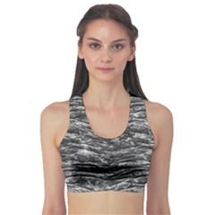 Dark Skin Texture Pattern Sports Bra