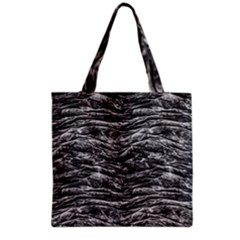 Dark Skin Texture Pattern Grocery Tote Bag