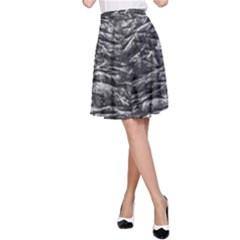 Dark Skin Texture Pattern A-Line Skirt