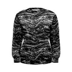 Dark Skin Texture Pattern Women s Sweatshirt