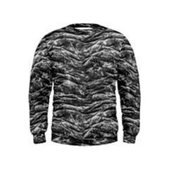 Dark Skin Texture Pattern Kids  Sweatshirt