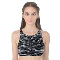 Dark Skin Texture Pattern Tank Bikini Top