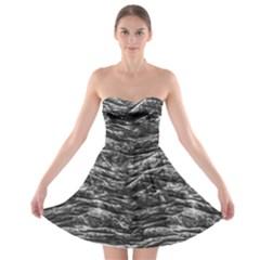 Dark Skin Texture Pattern Strapless Bra Top Dress