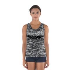 Dark Skin Texture Pattern Sport Tank Top