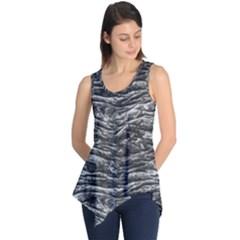 Dark Skin Texture Pattern Sleeveless Tunic