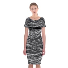 Dark Skin Texture Pattern Classic Short Sleeve Midi Dress
