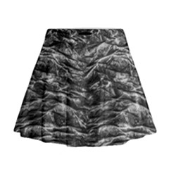 Dark Skin Texture Pattern Mini Flare Skirt